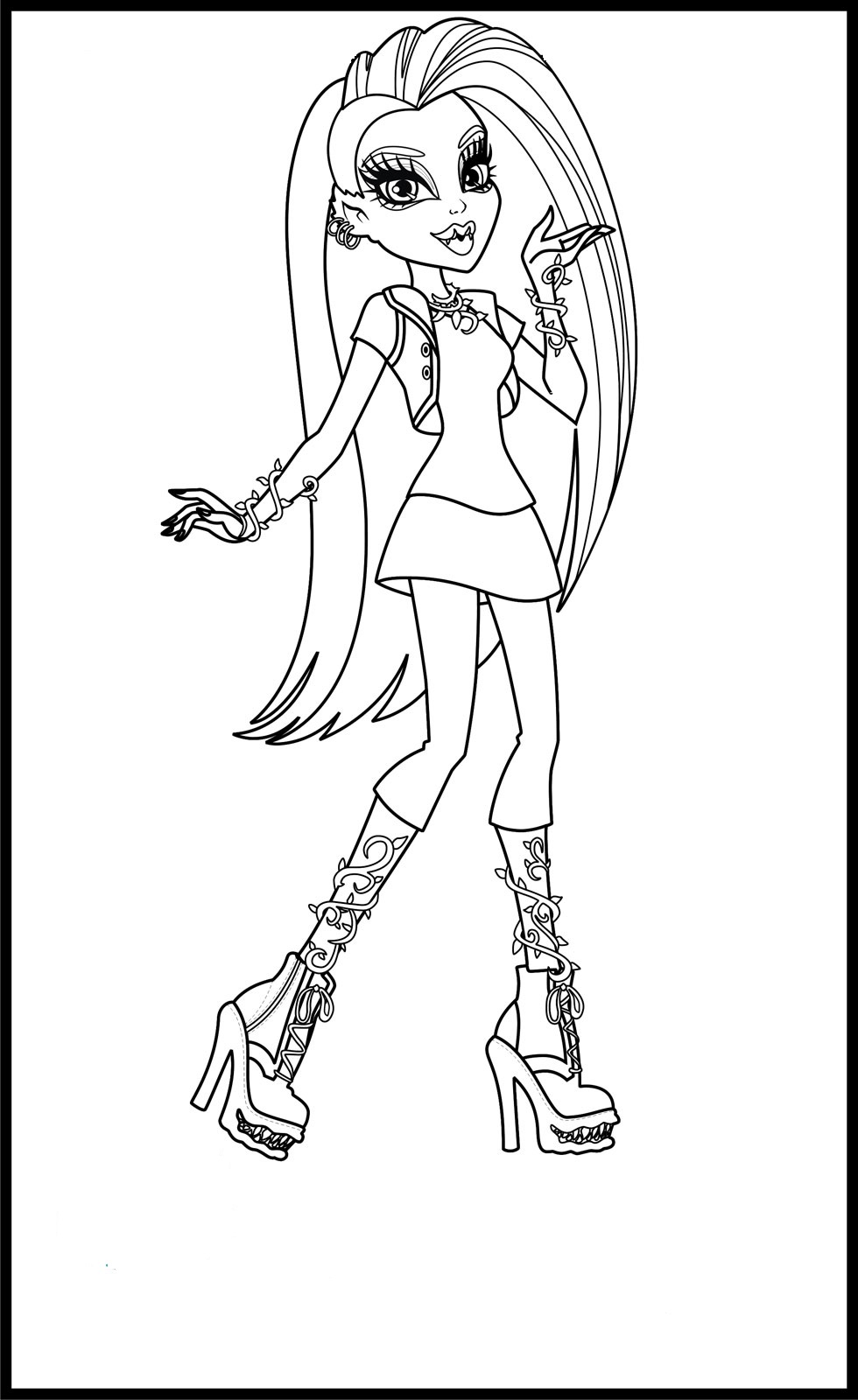 free printable monster high coloring pages for kids - Coloring Pages Monster High Venus