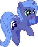 Filly Luna Is Happy