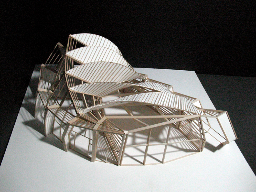 Ferry terminal final model by m yun on deviantart for Triangle concept architecture