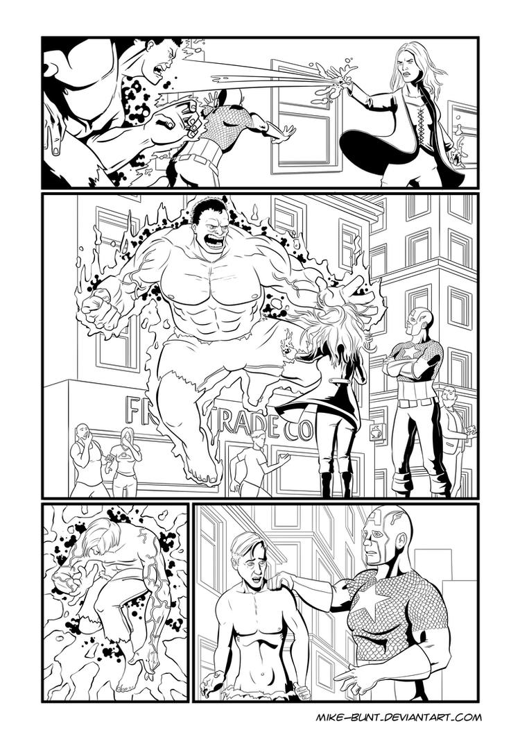 Hulk page 3 (of 3) by Mike-Bunt