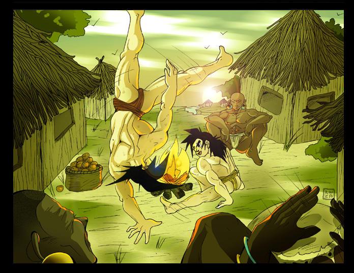 Training W. Dad pt 2 Capoeira by Rena-Sama