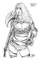 Barbarian Queen (sketch) by Area283