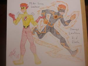 Orange Lantern Kid Flash