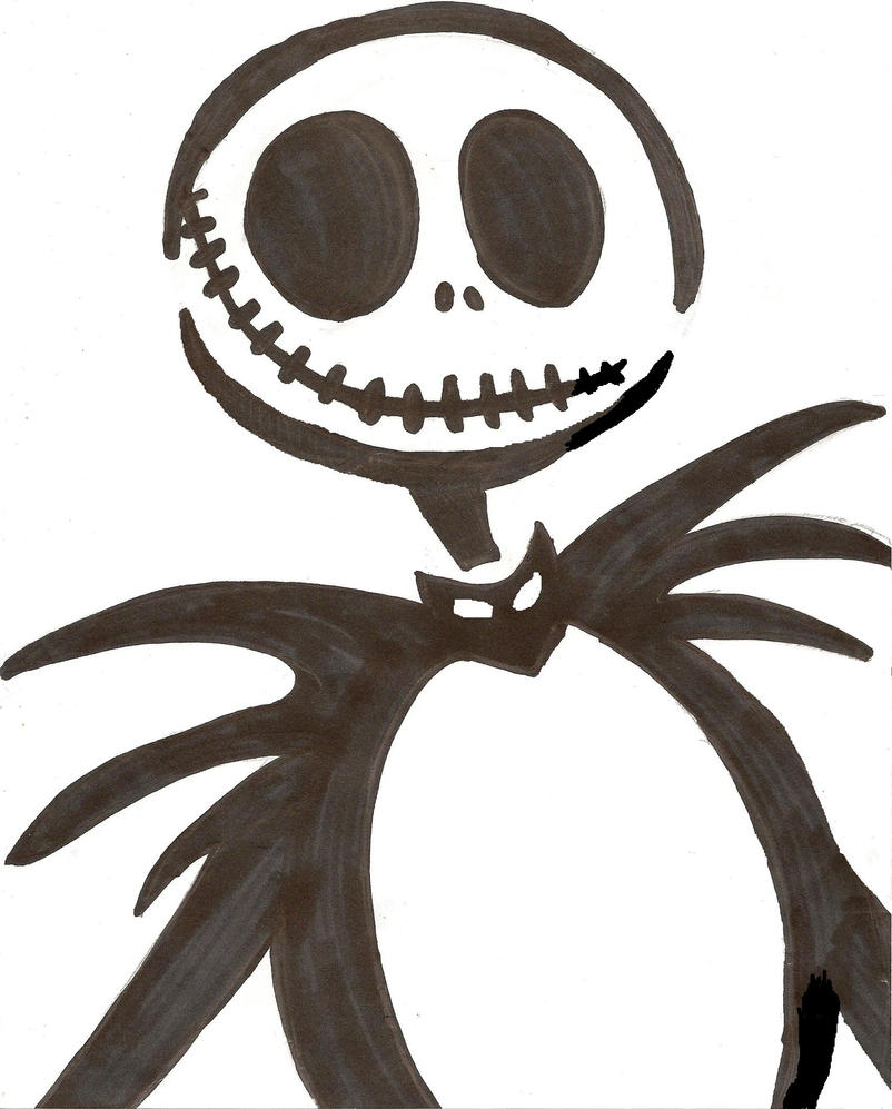 Jack skellington stencil by corpsegirl001 on deviantart for Pumpkin carving patterns printable jack skellington