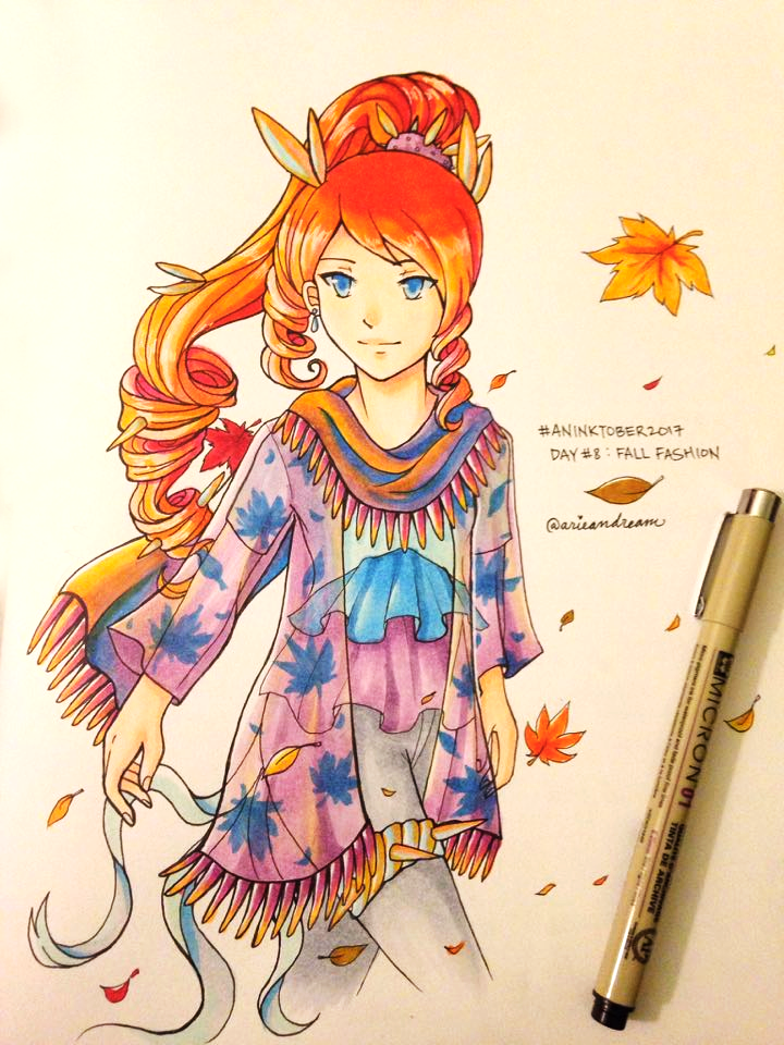 Aninktober Day 8 : Fall Fashion by ArieanDream