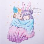 Aninktober Day 7 : Snuggle in Blanket
