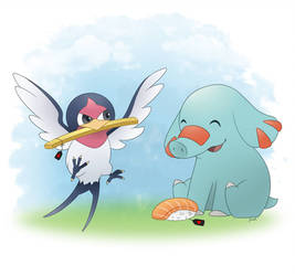 Taillow and Phanpy