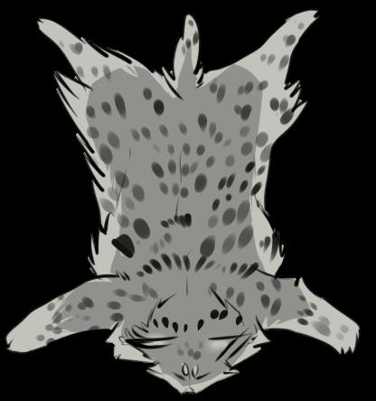 Grey Lynx Pelt By Cani Bal