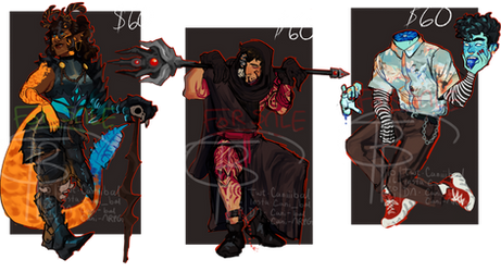 {ADOPTS 2/3 OPEN} Assorted Monsters