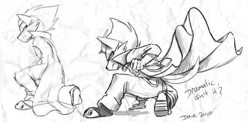 Wolf Kneeling wip by SupaCrikeyDave