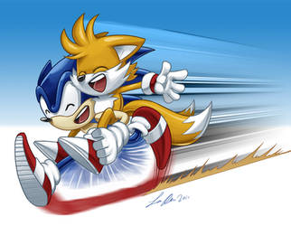 Sonic and Tails by SupaCrikeyDave