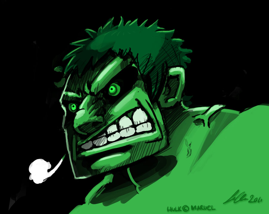 Hulk Mad by SupaCrikeyDave