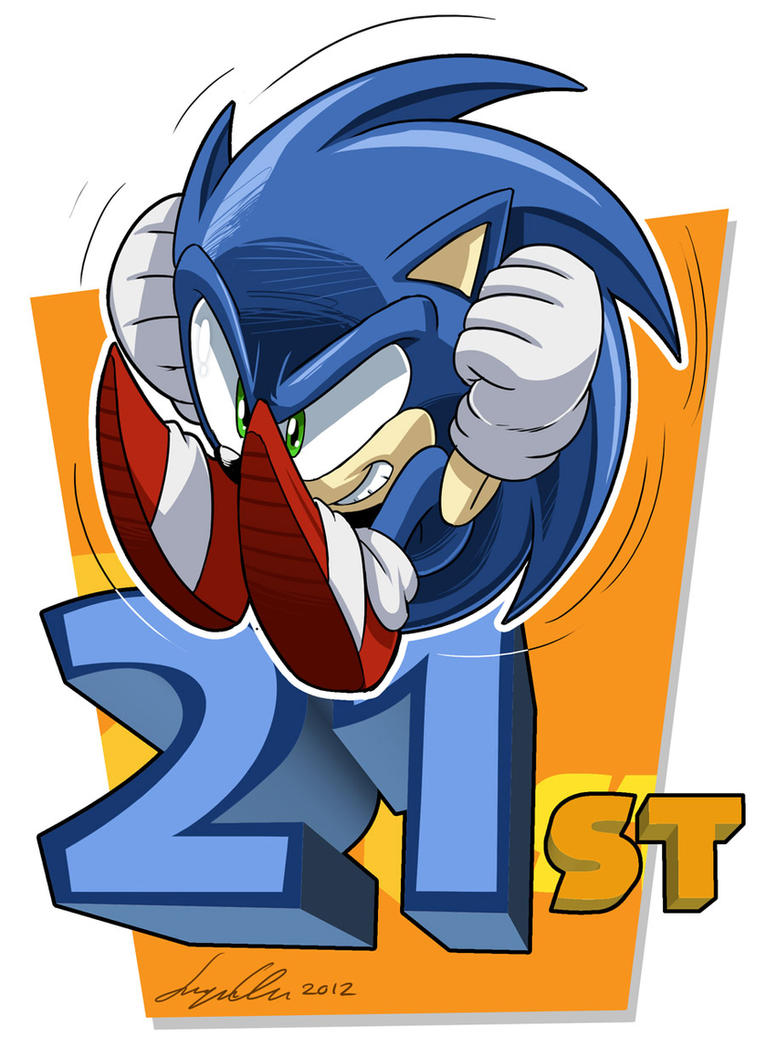 Sonic 21st Birthday by SupaCrikeyDave