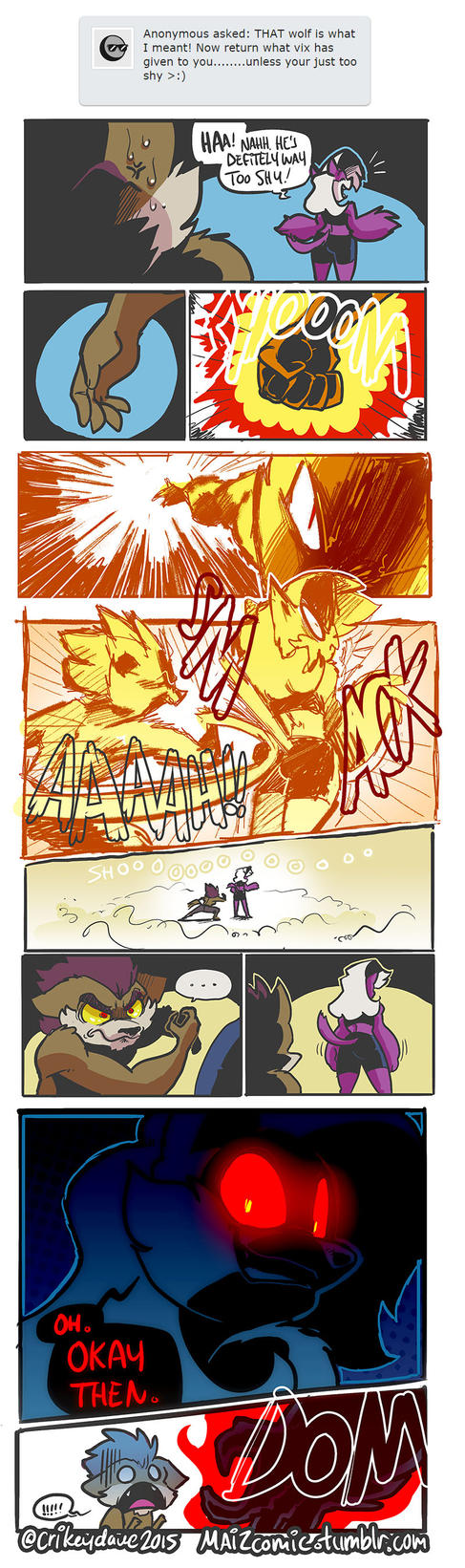 Wolf Bootay part 3 - Wolf finally strikes by SupaCrikeyDave