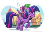 Twilight Sparkle and Spike
