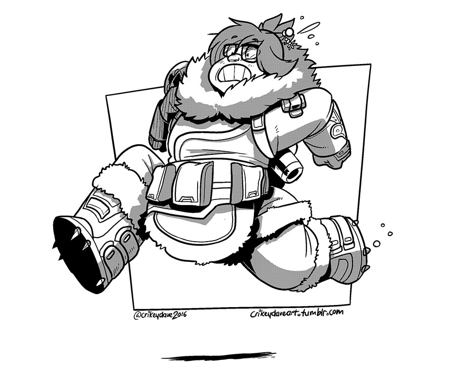 Mei is...running away! by SupaCrikeyDave