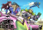Overwatch: DVA, Orisa and Pharah