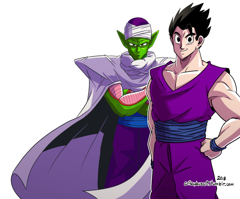 Gohan and green Dad, Piccolo by SupaCrikeyDave