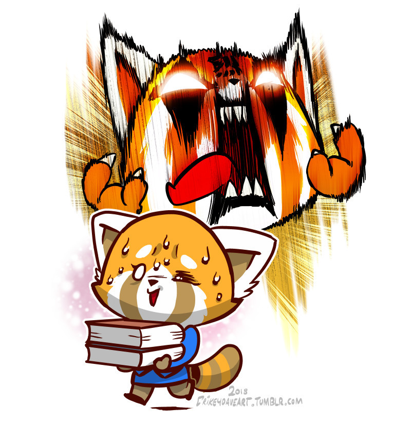 Aggretsuko by SupaCrikeyDave