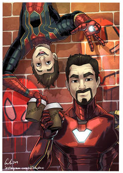 Tony and Peter: hanging out