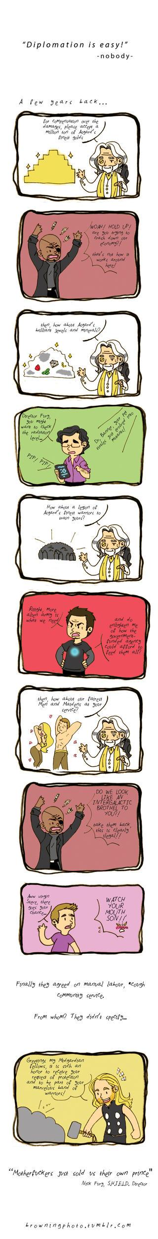 Avengers: Diplomacy by MieKuning