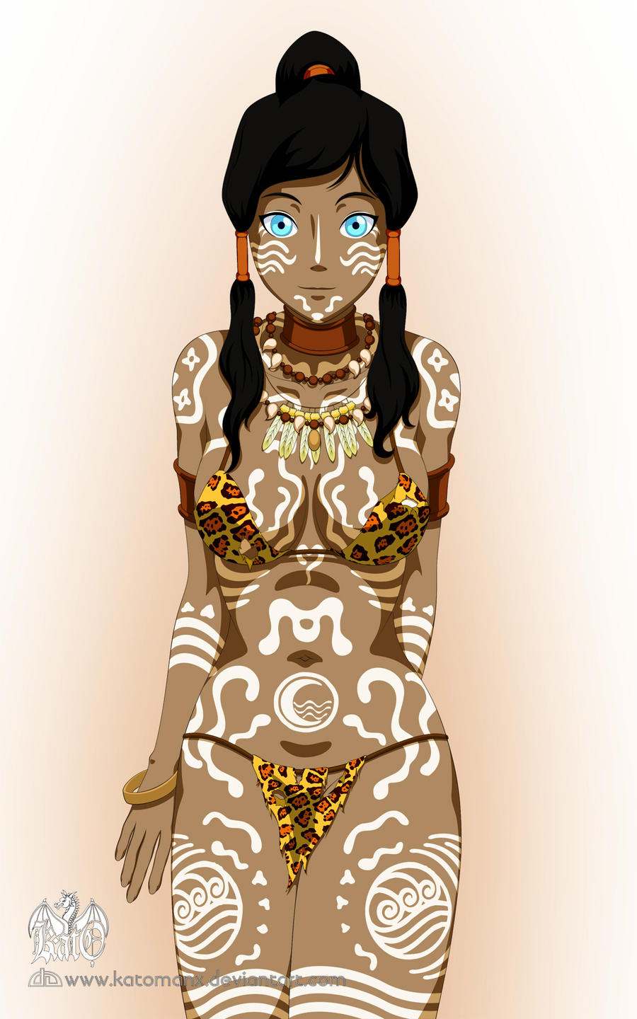 :Avatar Korra: Tribal by katomanX