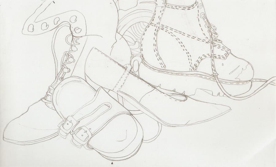 Contour Line Drawing Shoes : Shoe contour by fuyumi kun on deviantart