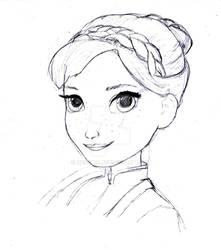 Frozen Fever Anna Head