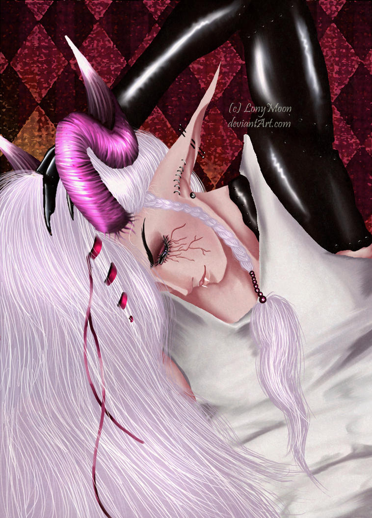 Long White Hair by LonyMoon
