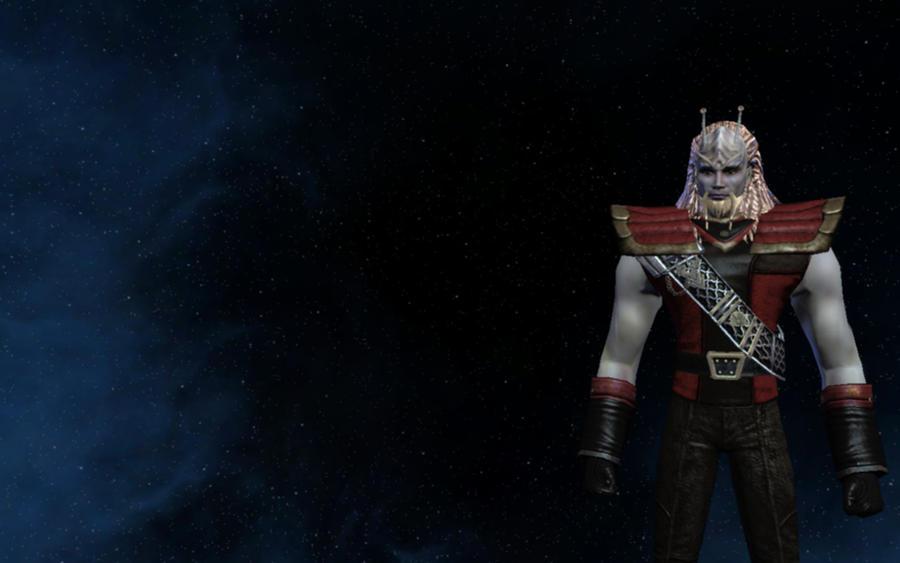 MY Klingon/Andorian Hybrid toon by tj-hawk