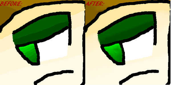 DRAWING OF ME BEFORE AND AFTER by WOODMAN987