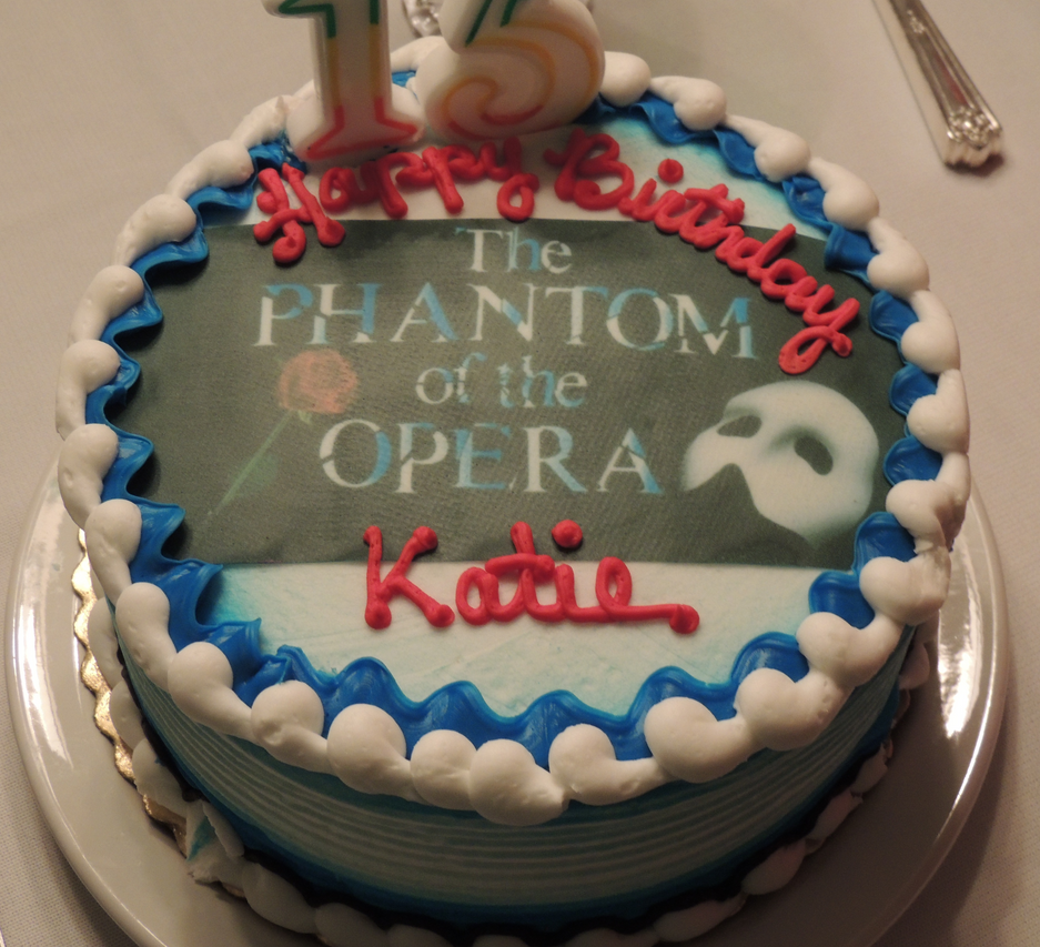 Phantom Of The Opera Birthday Cake By SasukeUchihable On