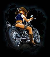 Pirate Biker Girl by russellink