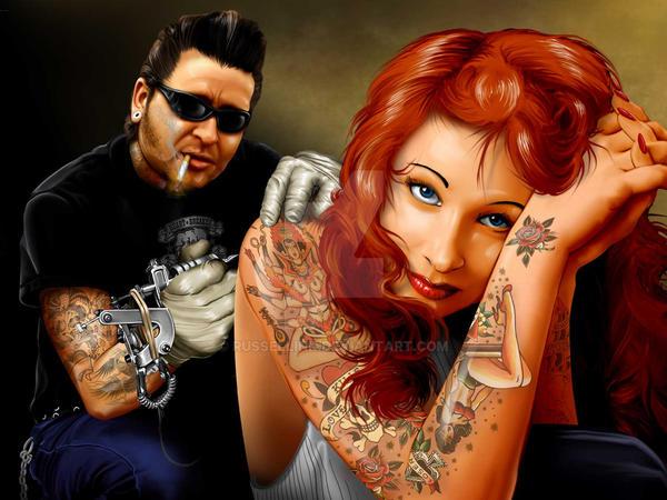 Tattoo Artist by russellink