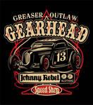 Johnny Rebel T-Shirt Design Gearhead