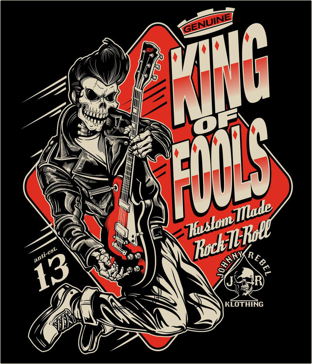 Rockabilly Wallpaper: Johnny Rebel T-Shirt Design King Of Fools By Russellink On