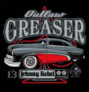 Johnny Rebel T-Shirt Design Outlaw Greaser