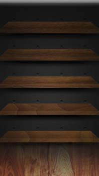 iPhone 5 Retina Walnut Shelves