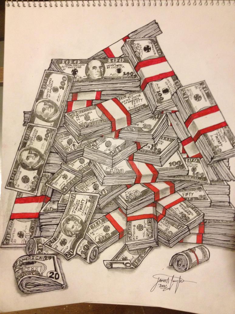 Money Stacks by J-A-Cunningham on DeviantArt