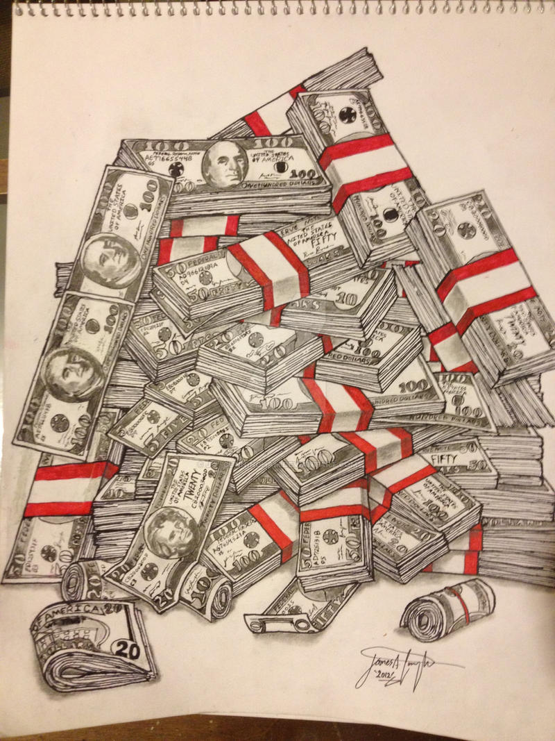 Money Stacks by J-A-Cunningham on DeviantArt