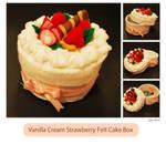 Vanilla Cream Strawberry Cake