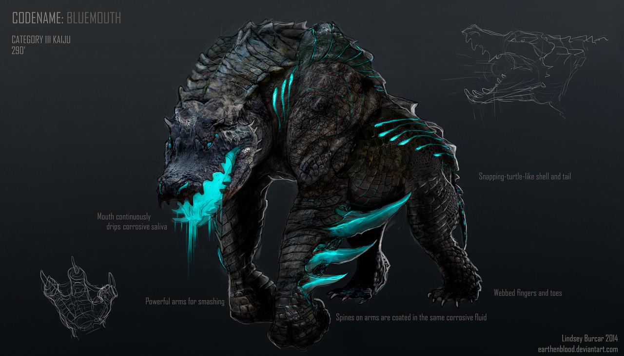 Kaiju Project: Bluemouth by LindseyBurcar on DeviantArt Pacific Rim Kaiju Category 100
