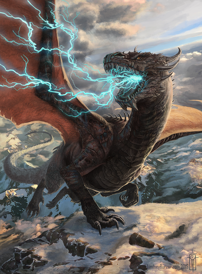 Tibetan Thunder Lizard by LindseyBurcar