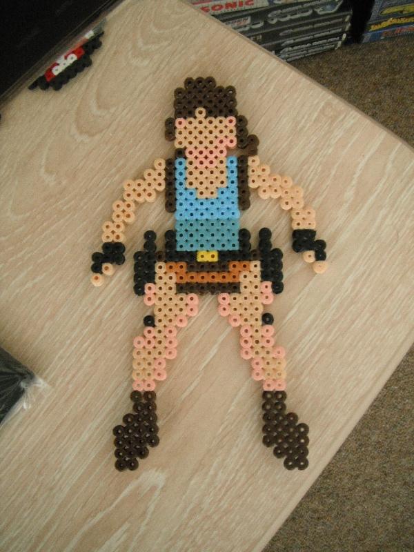 GBA Lara Croft bead sprite by TombRaiderKuchen