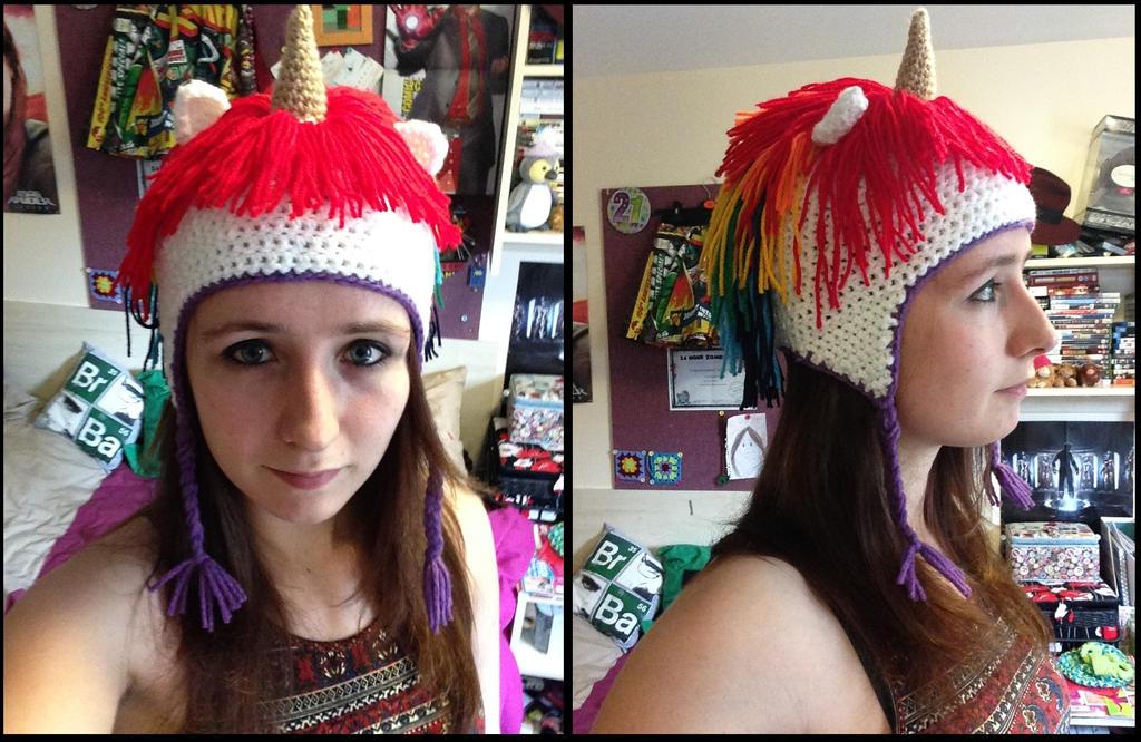 Crochet Unicorn Hat by TombRaiderKuchen