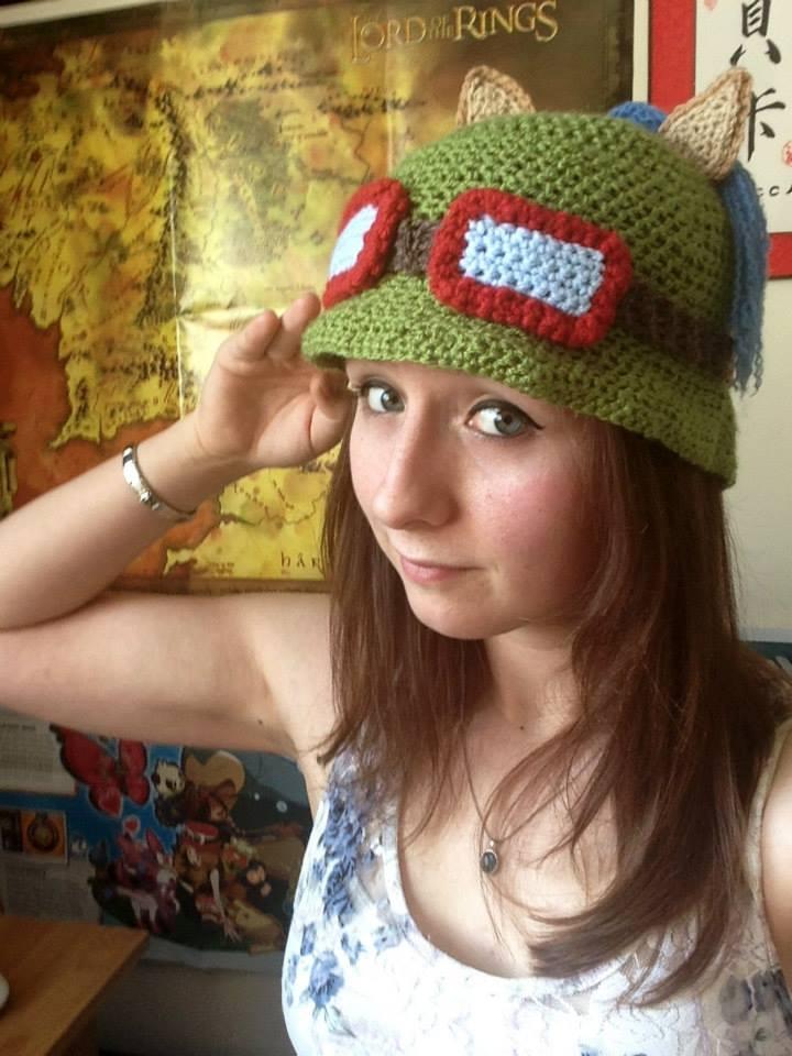 Crochet Teemo Hat by TombRaiderKuchen
