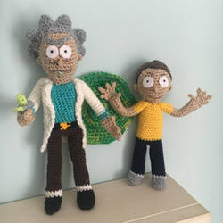 Rick and Morty Amigurumi by TombRaiderKuchen