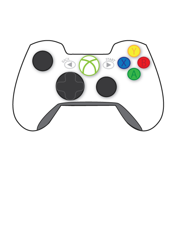 D Line Drawings Xbox One : Cartoon xbox controller free engine image for