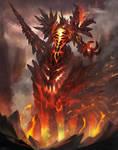 Fire elemental creature boss type