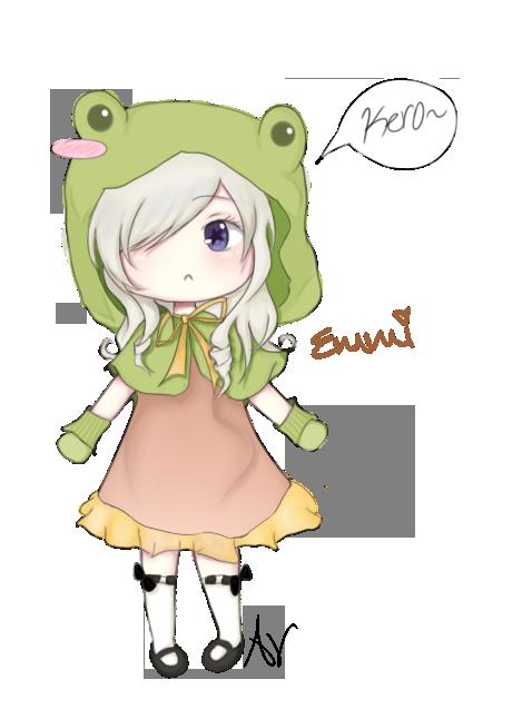 Cute Anime Frog Girl